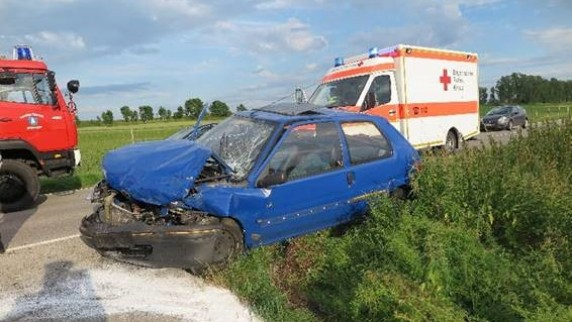 Unfall in Langerringen 09.07.2016
