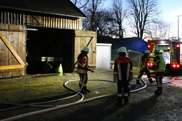 Brand in Gennach 09.01.2020